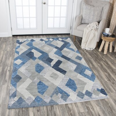 Arcand Hand-Tufted Navy Area Rug