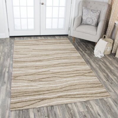 Arcand Hand-Tufted Brown Area Rug