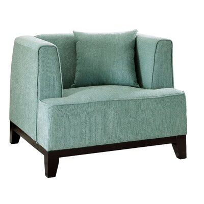 Husman Modern Barrel Chair Color: Light Blue