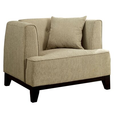 Husman Modern Barrel Chair Color: Beige