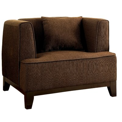 Husman Modern Barrel Chair Color: Brown