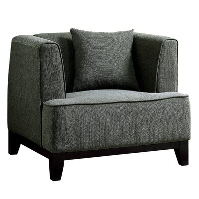 Husman Modern Barrel Chair Color: Gray