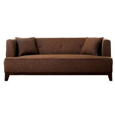 Husman Modern Sofa Upholstery: Brown