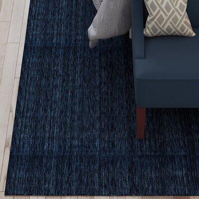 Larissa Hand-Woven Dark Blue Area Rug