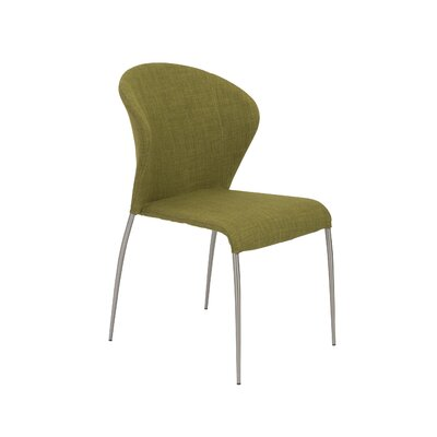 Eickhoff Side Chair Upholstery: Green