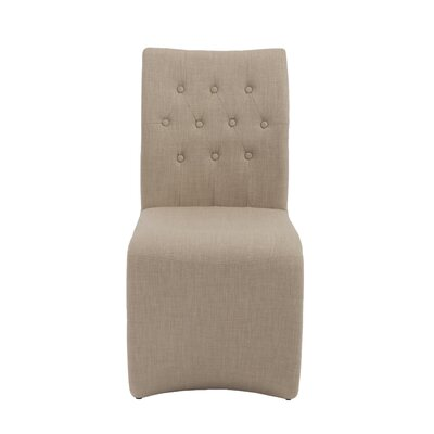 Bernardi Side Chair Upholstery: Tan