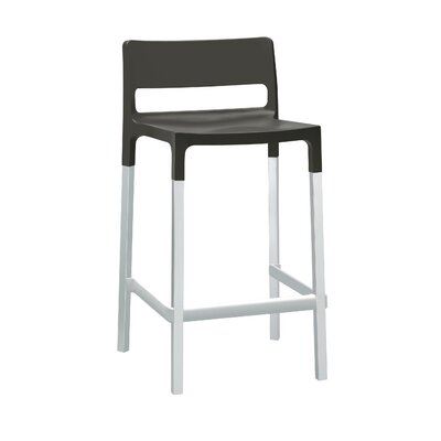 Millwood 24.6 Bar Stool Upholstery: Domino