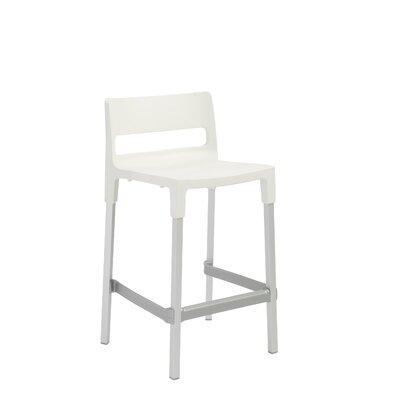 Millwood 24.6 Bar Stool Upholstery: Linen