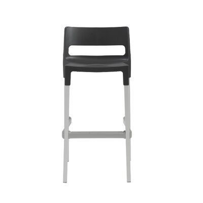 Millwood 29.53 Bar Stool Upholstery: Anthracite