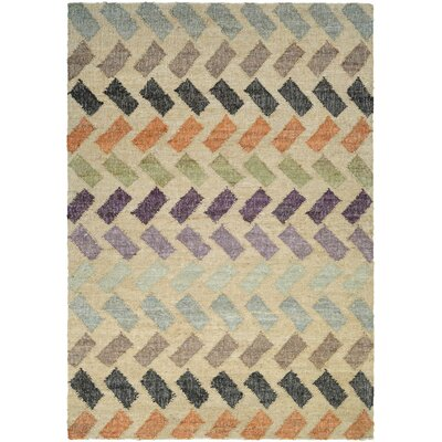 Lopp Hand-Woven Beige Area Rug Rug Size: Runner 23 x 710