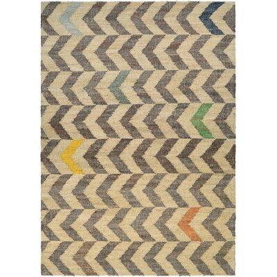 Lopp Hand-Woven Linen/Cocoa Area Rug Rug Size: Runner 23 x 710