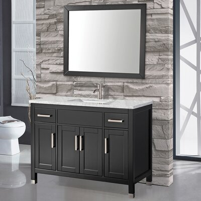 Denault 48 Single Sink Bathroom Vanity Set Base Finish: Espresso