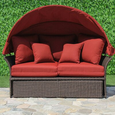 Fortenberry Daybed with Cushion Fabric: Ribbed Brick