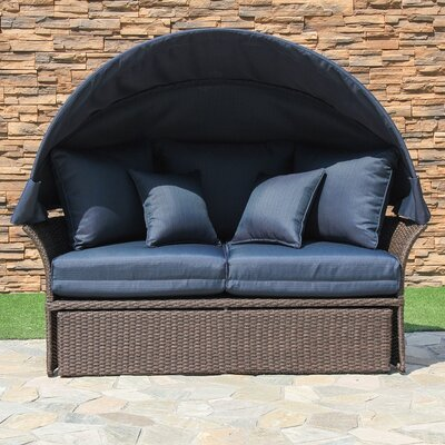 Fortenberry Daybed with Cushion Fabric: Ribbed Navy