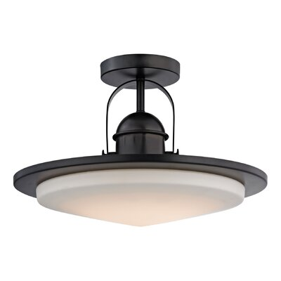 Rudder 1-Light LED Semi Flush Mount