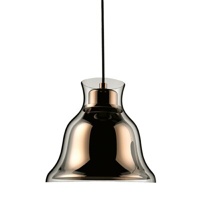 Ruffner 1-Light Inverted Pendant Shade Color: Gold