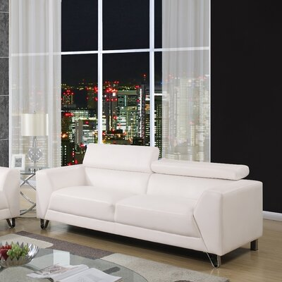 Runkle Headrest Sofa Upholstery: White