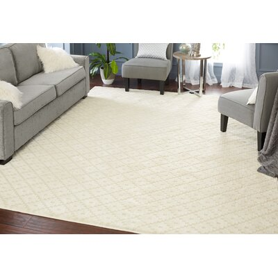 Spartan Cream Area Rug Rug Size: Rectangle 5 x 8
