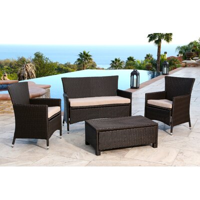 Martinez 4 Piece Deep Seating Group with Cushions