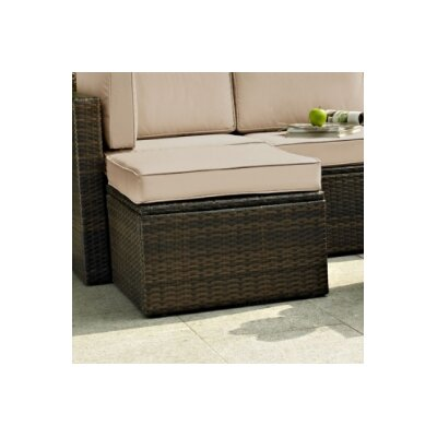 Crosson Ottoman with Cushion Fabric: Sand