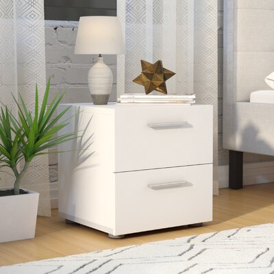 Hatboro Drawer Nightstand Color: White