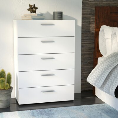 Lopiccolo 5 Drawer Chest Finish: White