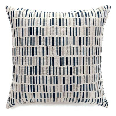 Grise Tile Print Throw Pillow Color: Blue, Size: Large