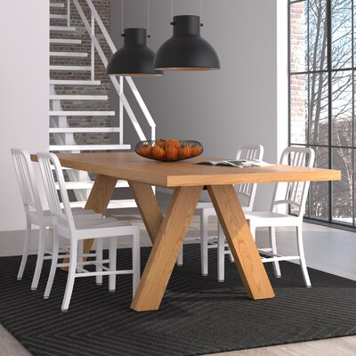 Opperman Dining Table Base Finish: Wild Oak, Top Finish: Wild Oak