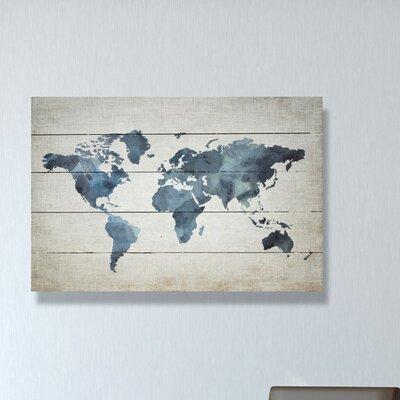Mapamundi New Worlds v2 Graphic Art Plaque
