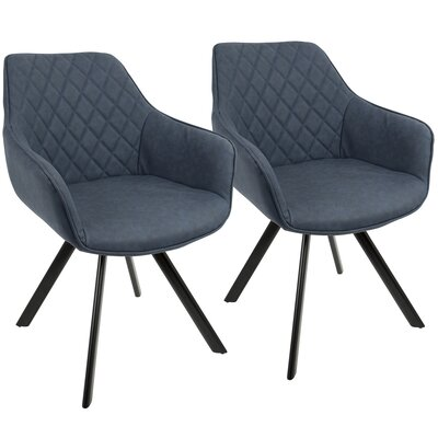 Graig Arm Chair Upholstery: Blue