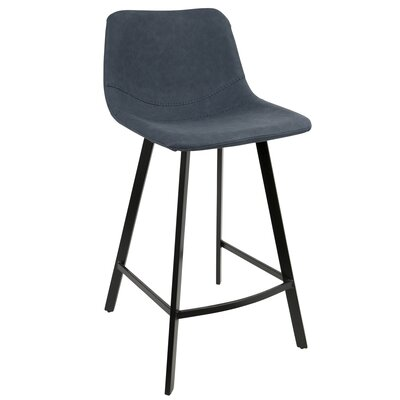 Almeida 25.5 Bar Stool Upholstery: Blue