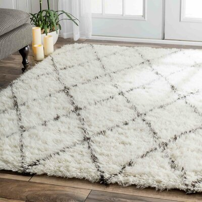 Dunford Hand-woven Beige Area Rug Rug Size: Rectangle 4 x 6