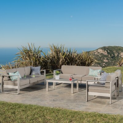 Kit Aluminum Outdoor 5 Piece Deep Seating Group