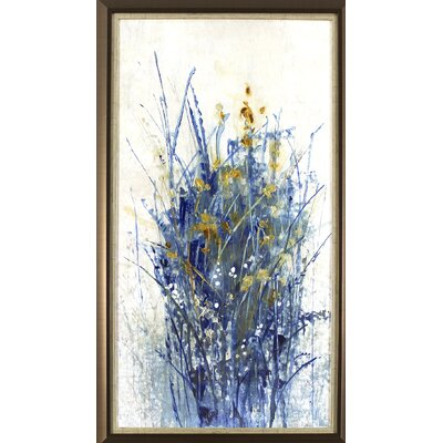 'Floral Burst' Framed Acrylic Painting Print