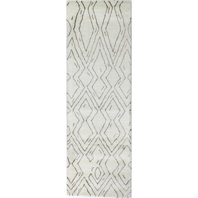 Lucus Hand-Tufted White Area Rug Rug Size: Runner 26 x 8