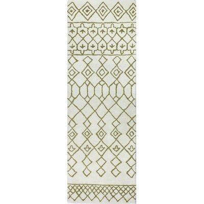 Divina Ivory/Gold Rug Rug Size: Runner 26 x 8