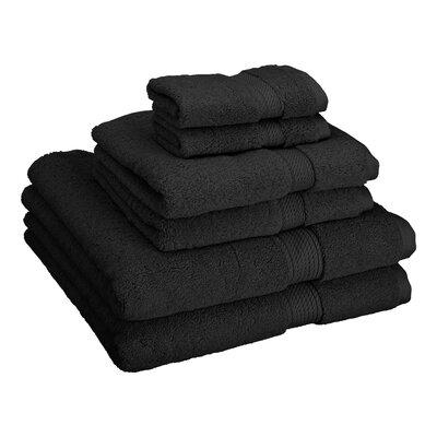 Patric Cotton 6 Piece Towel Set Color: Black