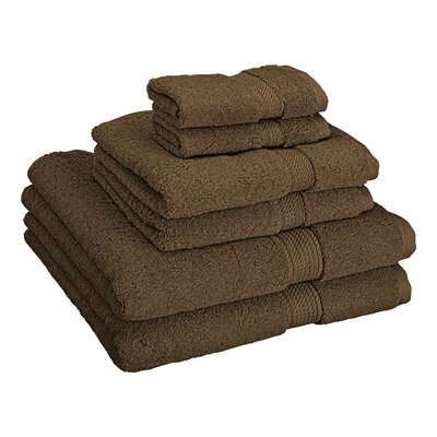 Patric Cotton 6 Piece Towel Set Color: Chocolate