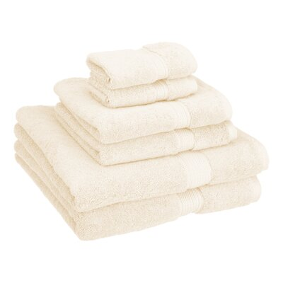 Patric Cotton 6 Piece Towel Set Color: Cream