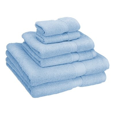 Patric Cotton 6 Piece Towel Set Color: Light Blue