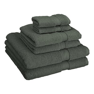 Patric Cotton 6 Piece Towel Set Color: Charcoal
