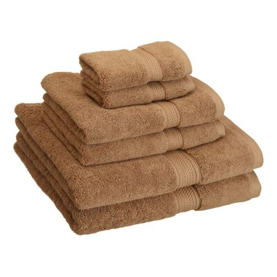 Cotton 6 Piece Towel Set Color: Latte