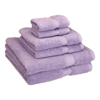 Cotton 6 Piece Towel Set Color: Lavender