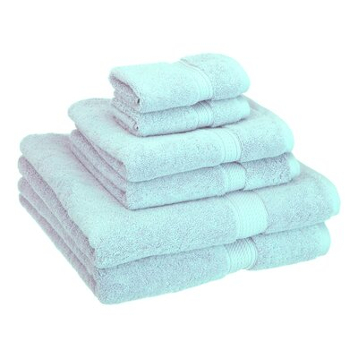 Patric Cotton 6 Piece Towel Set Color: Sea Foam