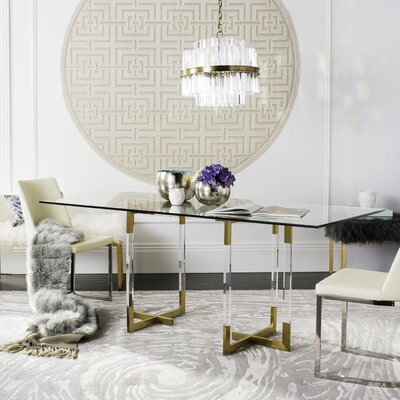 Custis Glass Dining Table
