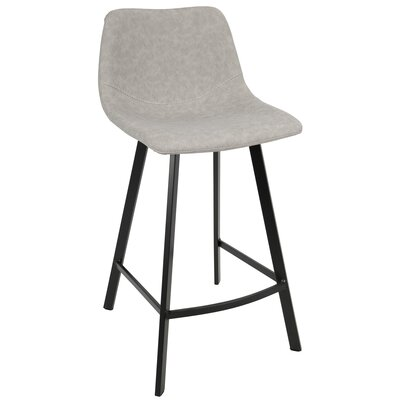 Almeida 25.5 Bar Stool Upholstery: Gray