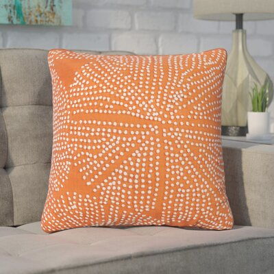 Faulks Passion Cotton Throw Pillow Color: Orange