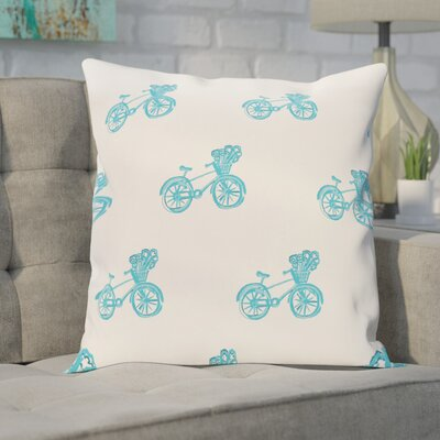 Chesser Geometric Print Outdoor Pillow Color: Turquoise, Size: 16 H x 16 W x 1 D