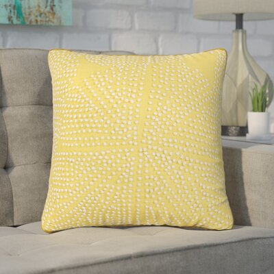 Faulks Passion Cotton Throw Pillow Color: Honey