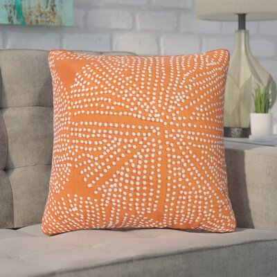 Faulks Passion Cotton Throw Pillow Color: Orange